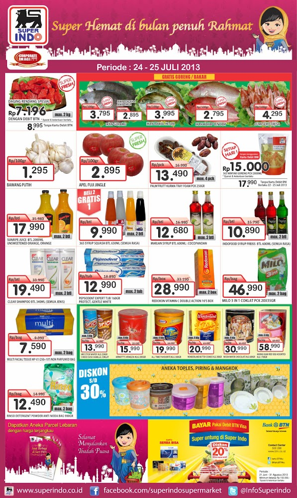 Katalog Superindo Weekday Promo Terbaru Periode 24 – 25 Juli 2013