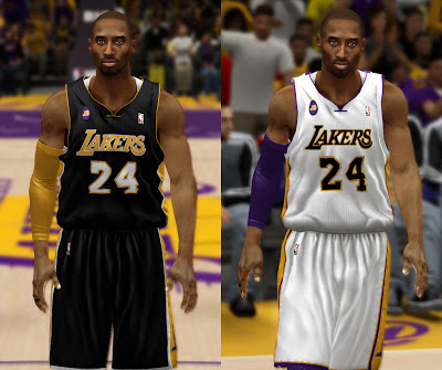 NBA 2K13 Lakers Black Jersey with JB Patch