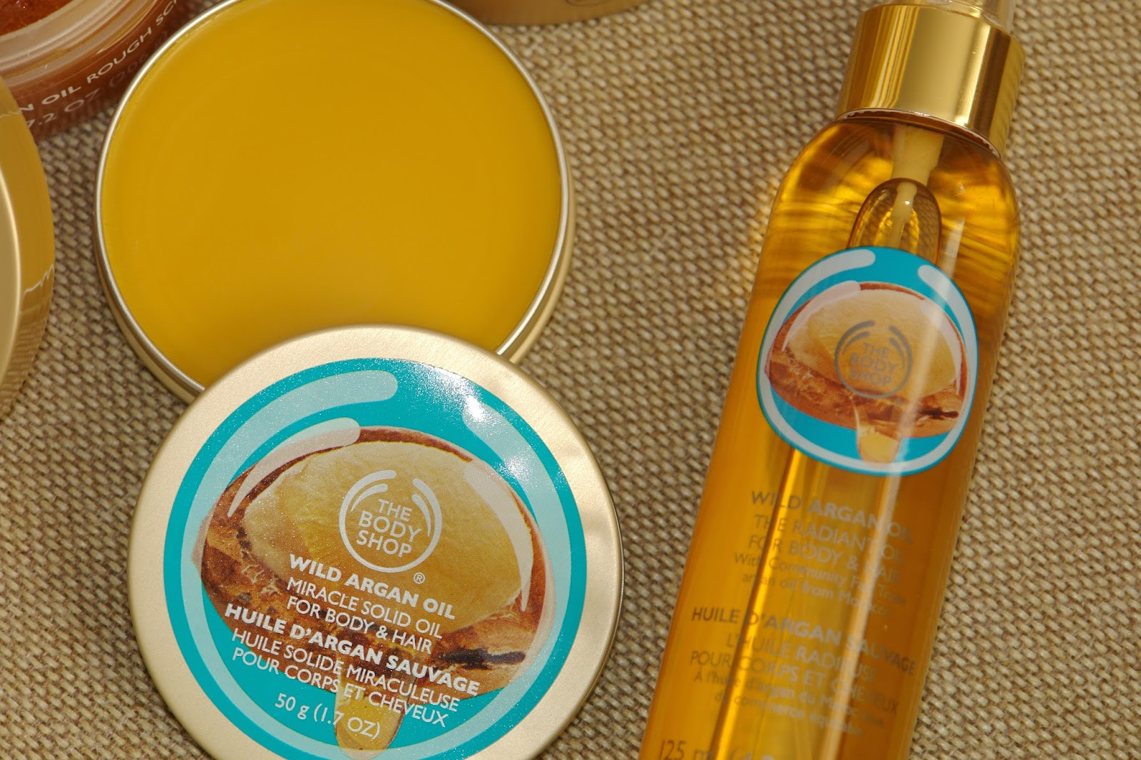 The Body Shop Wild Argan Oil range, beauty, review, The Body Shop, wild argain oil, #argan, argan oil, blogger, UK blog, The Radiant Oil for Body & Hair, Miracle Solid Oil, Solid Oil Lips