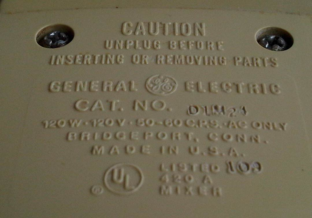 Electric Mixers Made In Usa ~ Antik n antique mixer general electric made in usa