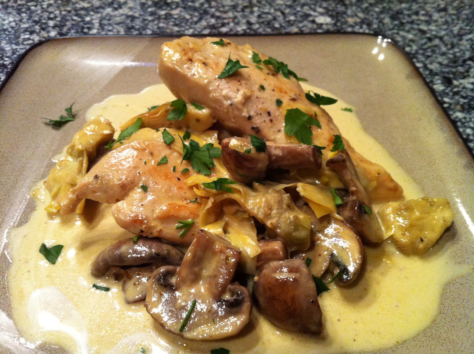 chicken with artichokes and mushrooms romantic chicken with artichokes ...