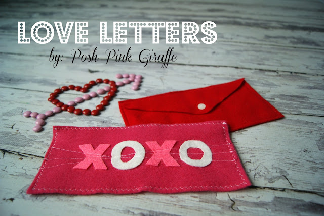 Felt Love Letters Crafts