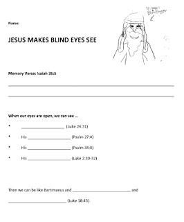 growing kids in grace jesus heals blind bartimaeus. Black Bedroom Furniture Sets. Home Design Ideas