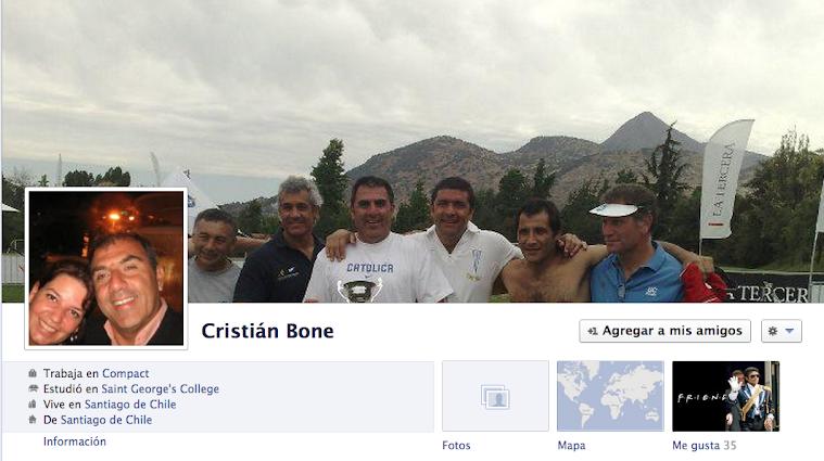 Facebook de Cristian Bone Soto