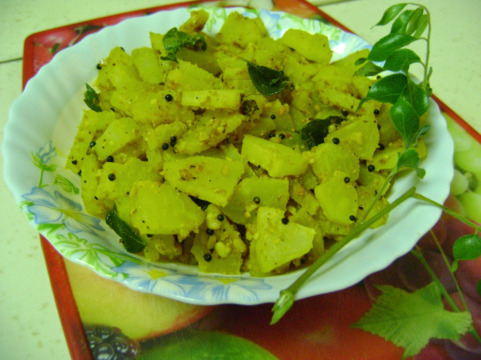 Green Papaya Curry - Andhra Style