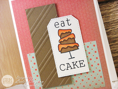 SRM Stickers Blog - Eat Cake by Lesley - #card #birthday #janesdoodles #eatcake #clearstamps