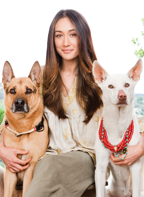 maggie q with pets
