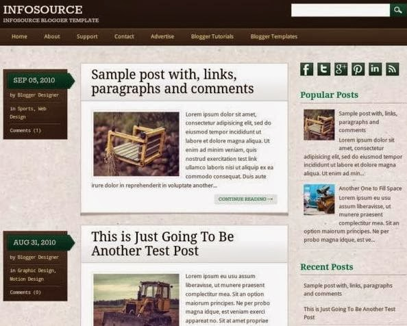 Infosource Blogger Template