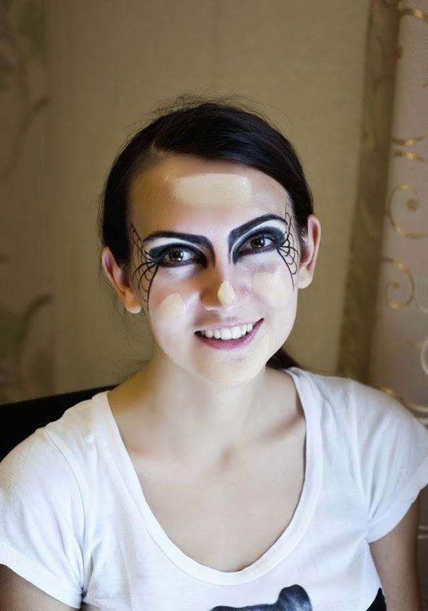 halloween makeup tutorial, halloween makeup step by step, halloween makeup black widow, уроки макияжа хэллоувин, идея макияжа хэллоувин
