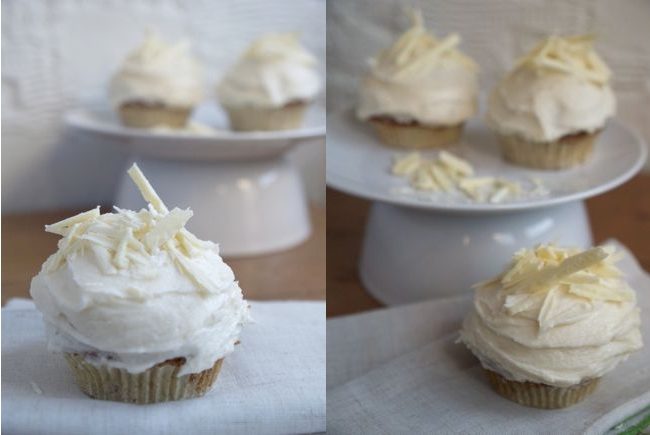 White Chocolate and Sumac Cupcakes via Randomly Happy