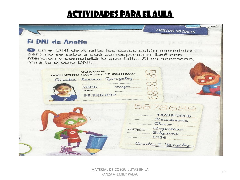 El Documento Nacional De Identidad Con Actividades
