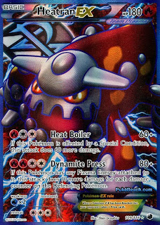 Heatran EX Full Art Plasma Freeze Pokemon Card