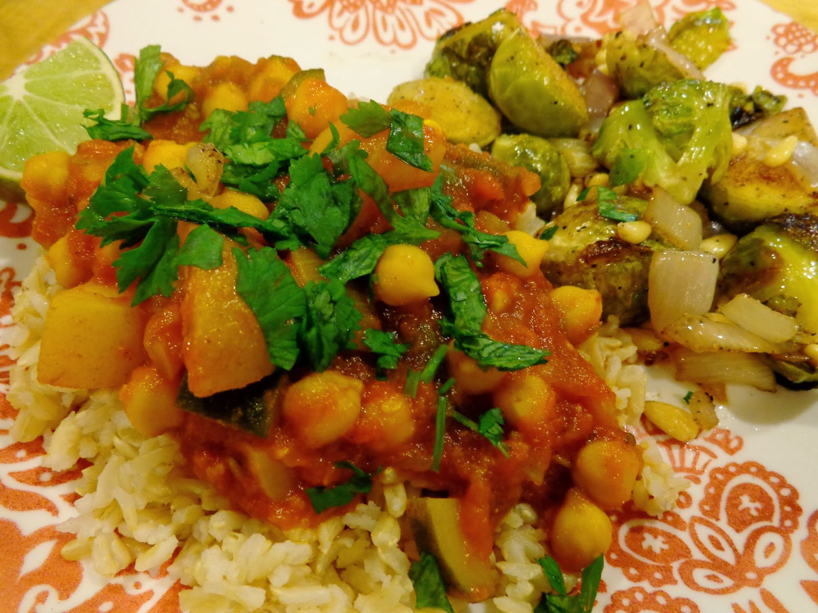 Eatin' Vegan in Smalltown, USA: Curry and Brussels Sprouts