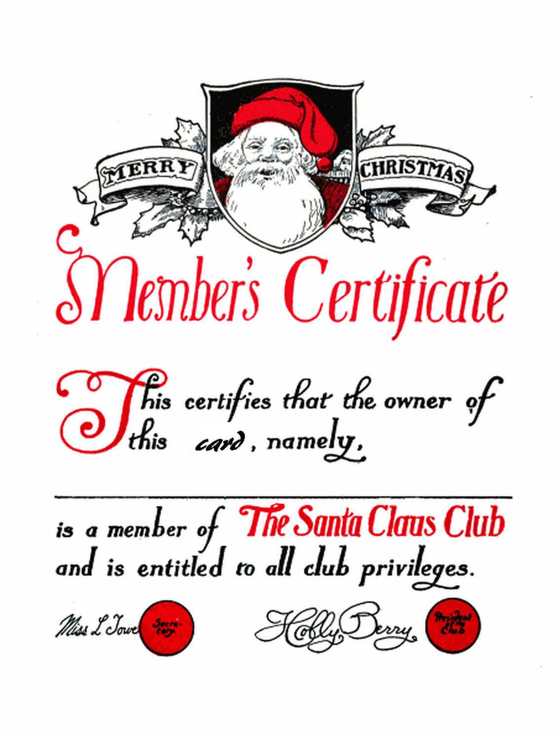 Join the Santa Claus Club