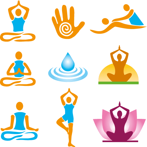 Logos de Yoga y fitness - Vector