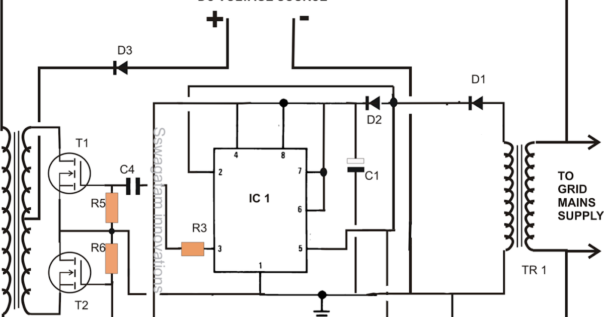 designing a grid tie inverter circuit electronic circuit projects