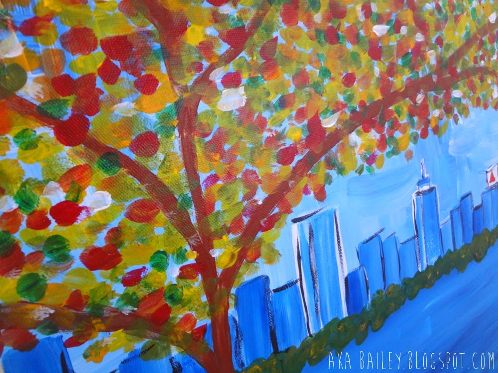Autumn on the Charles, painting from The Paint Bar Boston