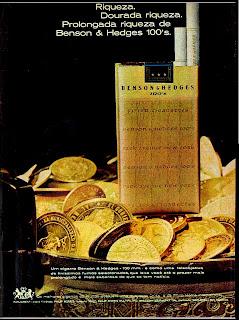 propaganda cigarros Benson & Hedges - 1970; propaganda anos 70; história decada de 70; reclame anos 70; propaganda cigarros anos 70; Brazil in the 70s; Oswaldo Hernandez;