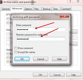 Cara Membuat Pasword Pada  File Winrar