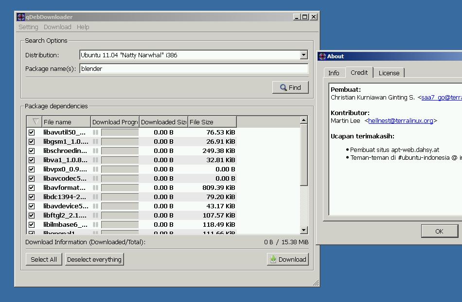 qDebDownloader: Instal aplikasi Ubuntu offline