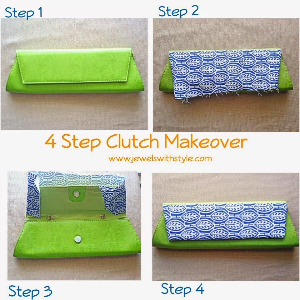 clutch makeover, how to make a new purse, jewels with style, purse makeover, DIY clutch purse, DIY purse makeover, DIY tutorial, Unique purses, one of a kind purse, handmade purse