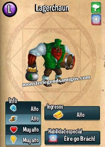 imagen de las caracteristicas del monstruo lagerchaun
