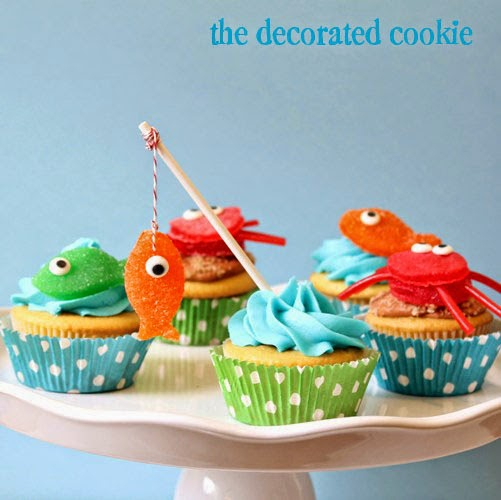 easy summer cupcakes fishing cupcakes