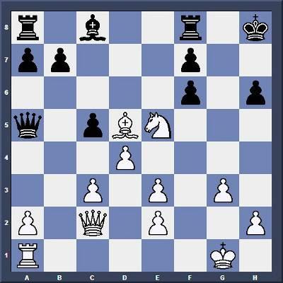 Echecs & Tactique : les Blancs jouent et gagnent en 5 coups  - Niveau Moyen
