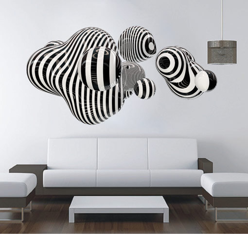 3d wall decals 3d puzzle image. Black Bedroom Furniture Sets. Home Design Ideas