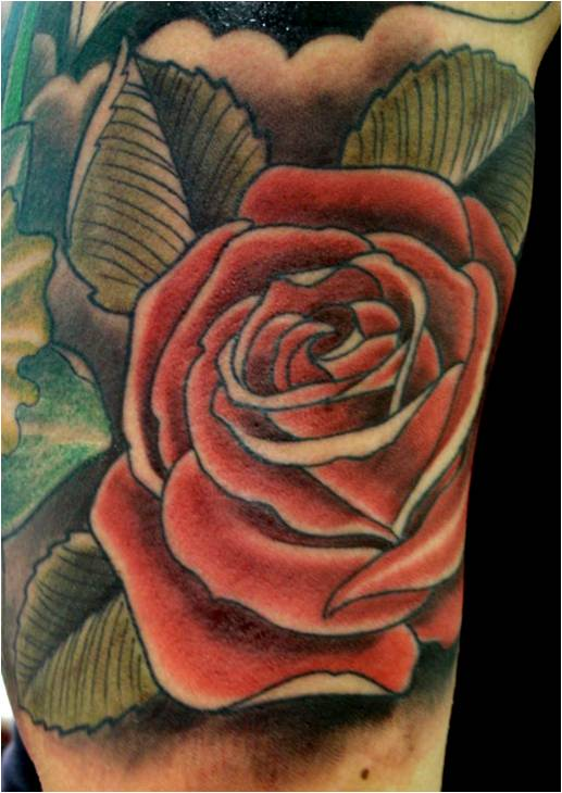 Trend Tattoo Styles Rose Colors