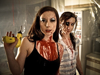 The Soska Sister, or the Twisted Sisters, in Dead Hooker in a Trunk