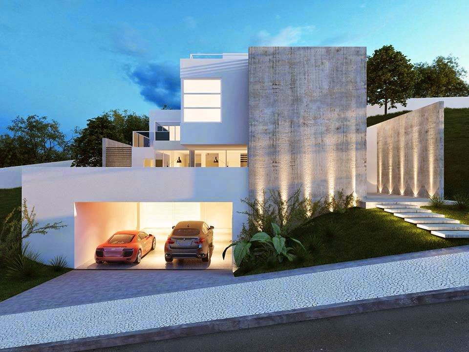 Construindo minha casa clean 30 fachadas de casas - Ideas para casas modernas ...
