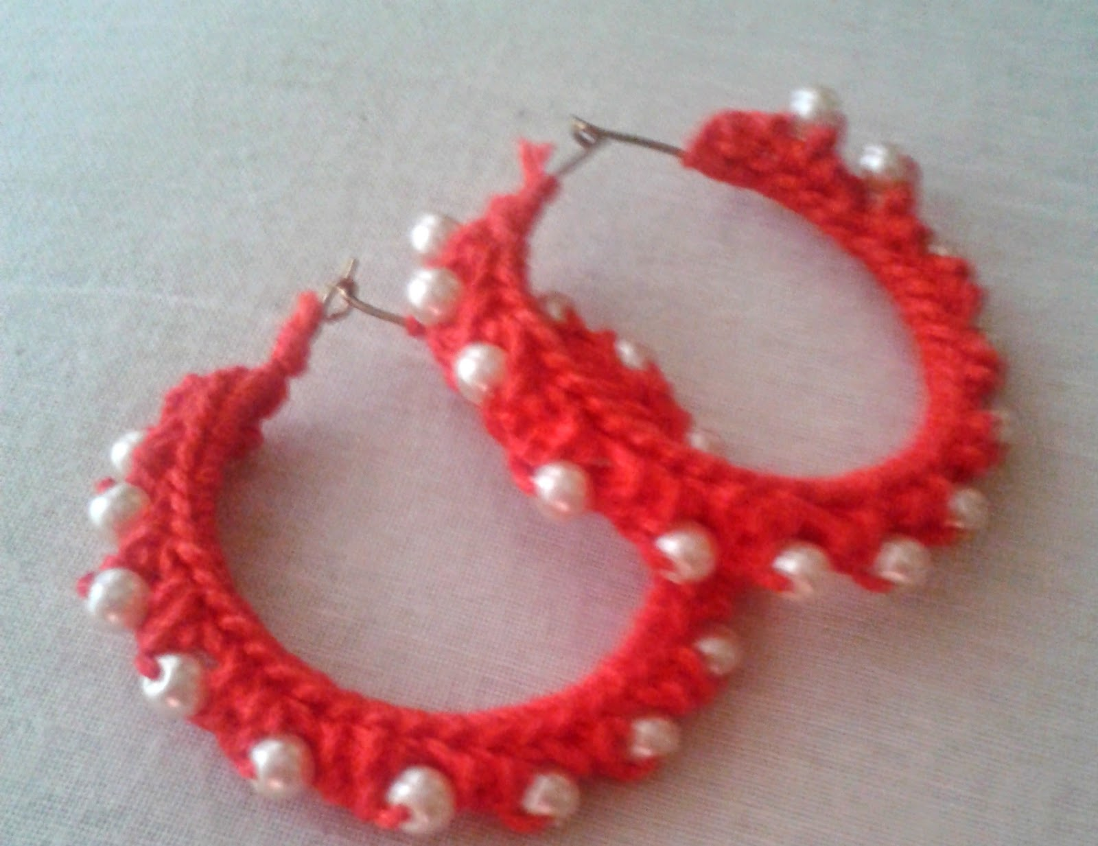 crochet earring