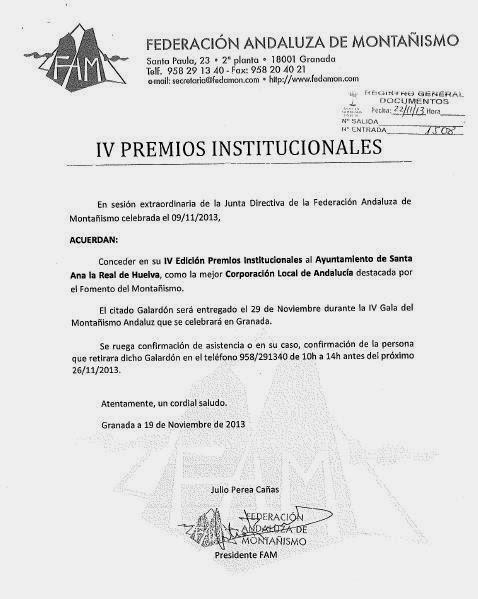 4ª GALA DEL MONTAÑISMO ANDALUZ