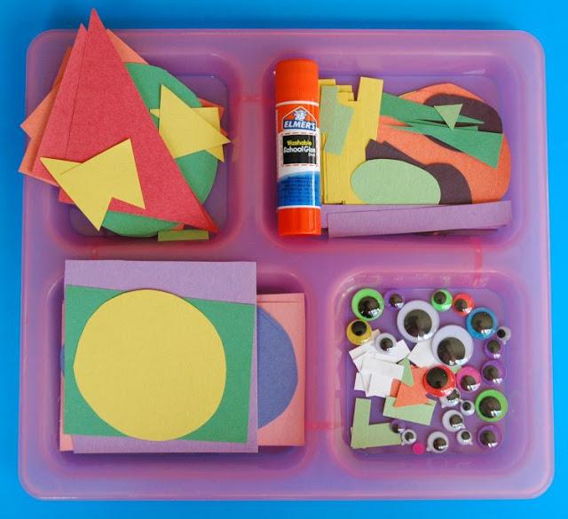 Preschool paper monster craft for Halloween
