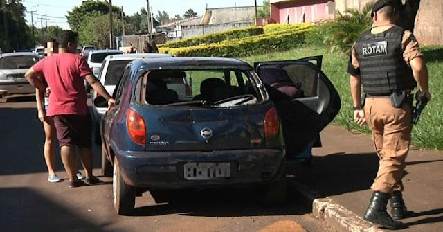 Campo Mourão: Adolescentes marcam briga pelo WhatsApp e carro sai destruído!