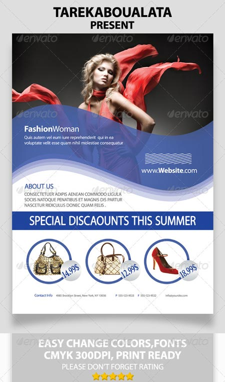Fashion Woman Flyer - For Online Store