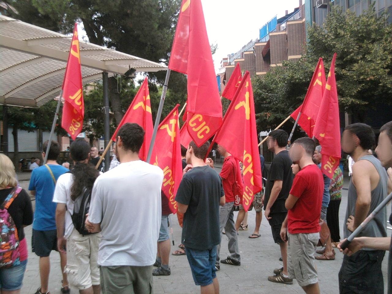 Mitin del PCPC y los JCPC el 11 de septiembre para la fiesta nacional de Cataluña Foto0162