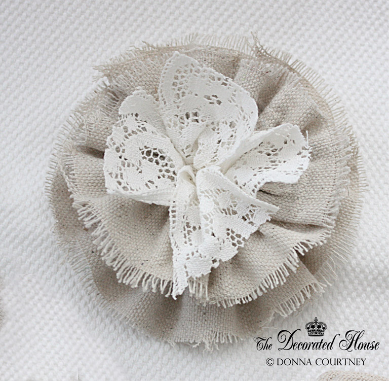 The Decorated House: ~ How to Make Fabric Flowers Continued ...
