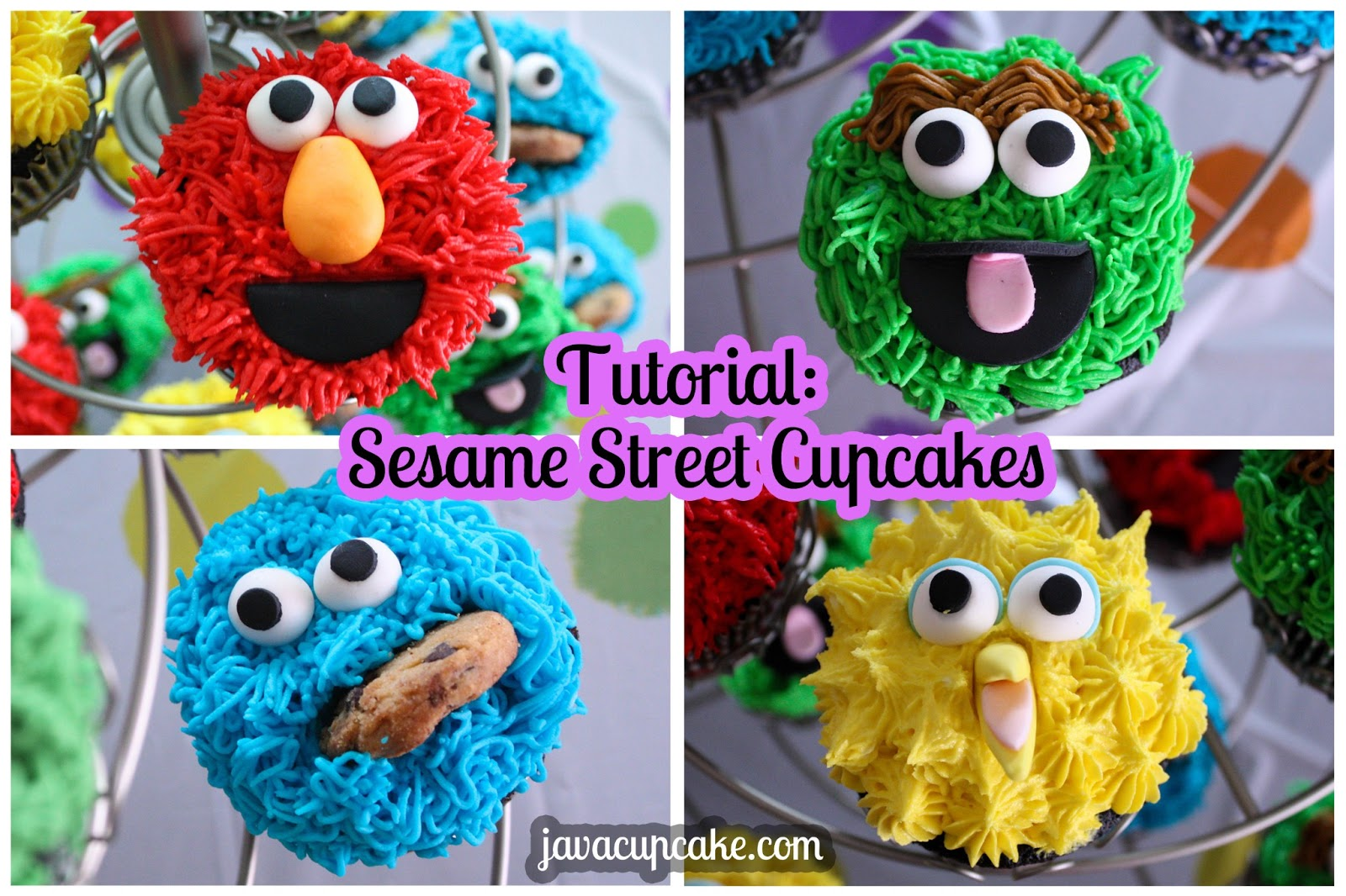 how to make sesame street cupcakes