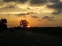 Setting sunset in Kuala Belait