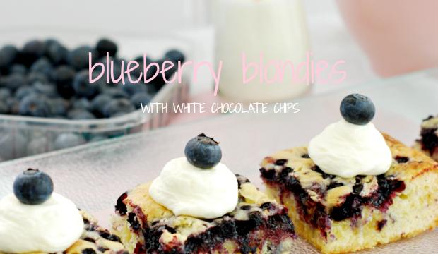 Blueberry Blondies