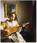フェルメール作「ギターを弾く女」(1673~75年)