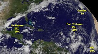 Atlantische Hurrikansaison 2012 aktuell: GORDON, ISAAC, Ex-HELENE und mehr, Gordon, Isaac, Helene, Golf von Mexiko, Mexiko, Karibik, aktuell, Joyce, Hurrikansaison 2012, Atlantische Hurrikansaison, Dominikanische Republik, Florida, Satellitenbild Satellitenbilder, August, 2012,