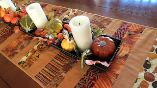 Fall table runner with beautiful fabrics