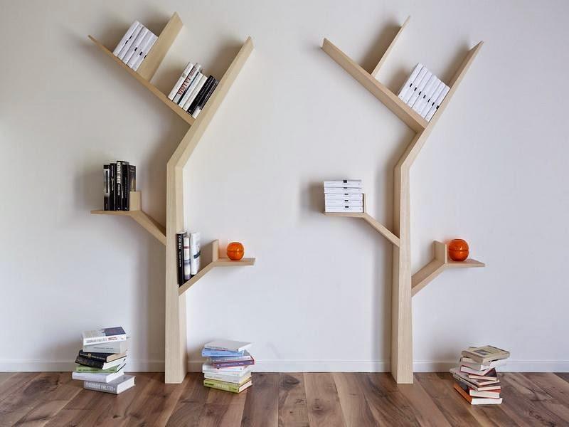 مكتبة على شكل شجرة