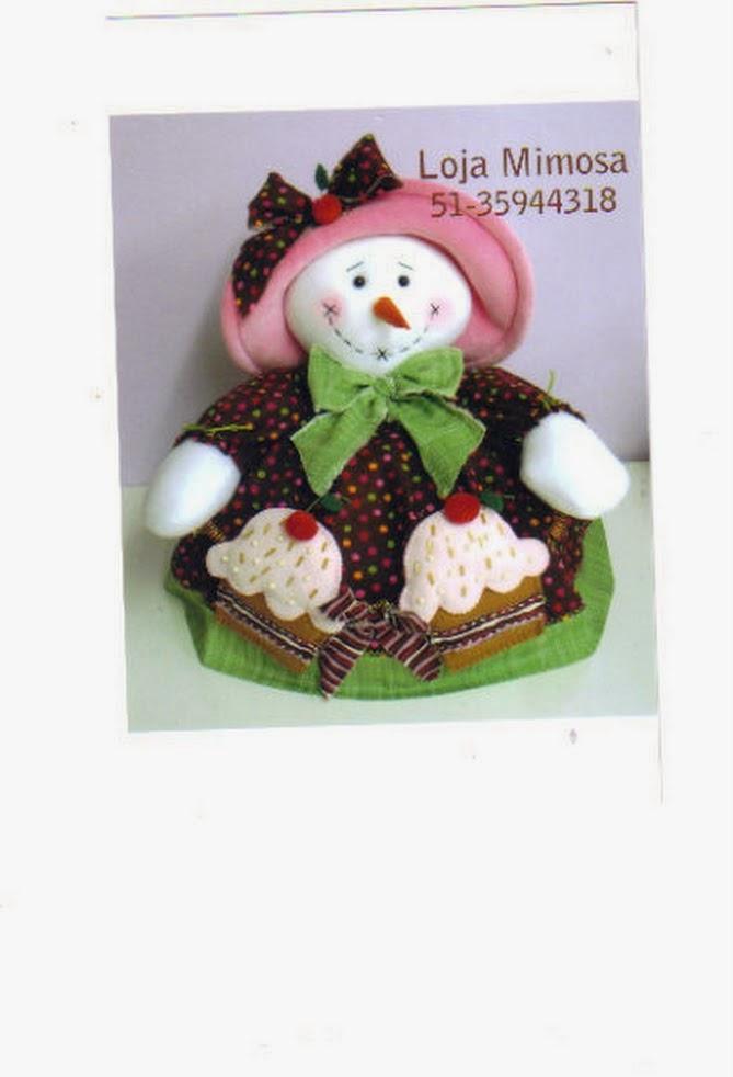 Moldes boneco de neve com cupcake