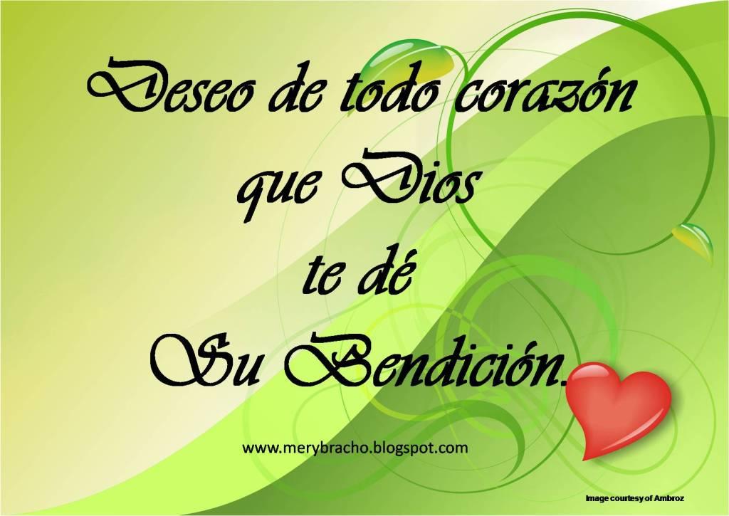 Postal cristiana Deseo que Dios te de su bendición amigo, amiga