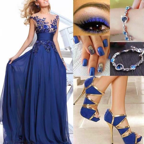 Vestidos azules para madrina de boda