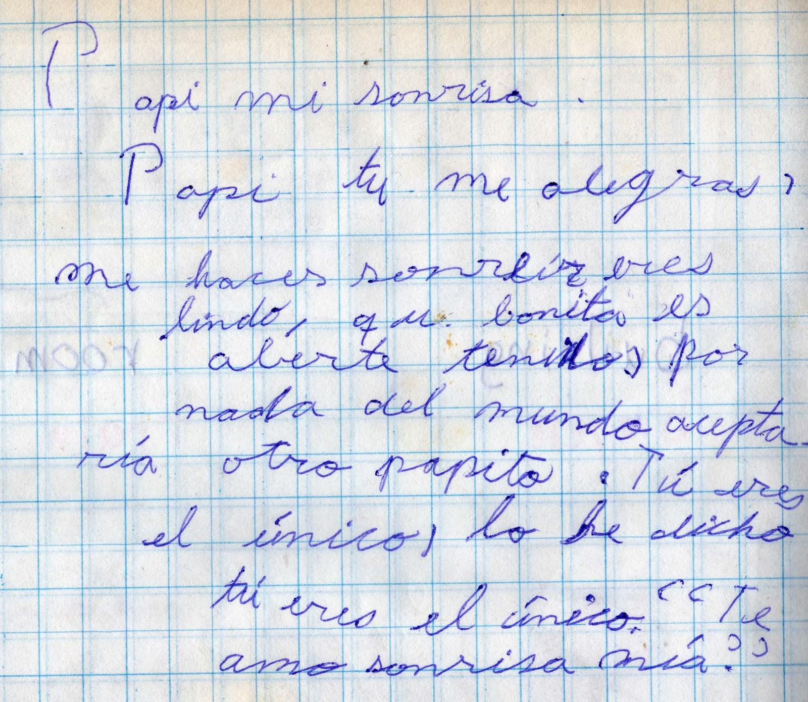 Carta a mi papá, cuando ya había fallecido.
